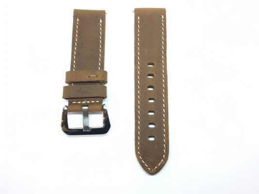 Italian Leather Watch Strap - Brown
