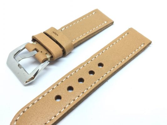 Italian Leather Watch Strap - Beige