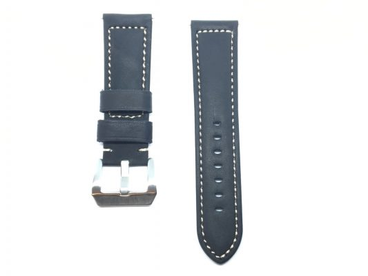 Italian Leather Watch Strap - Black