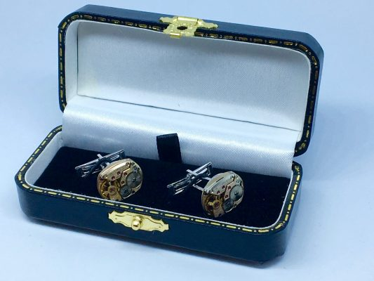 Omega Movement Cufflinks - Cal 485 - 1970