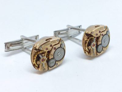 Omega Movement Silver Cufflinks - Cal 481 - 1956