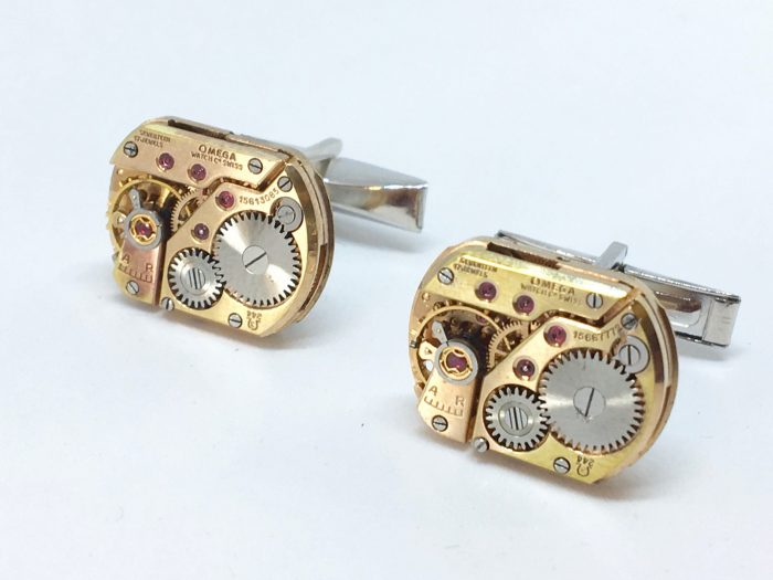 Omega Movement Silver Cufflinks - Cal 244 - 1956