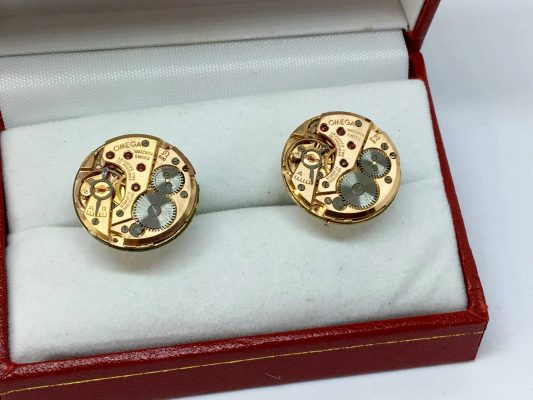 Omega Movement Cufflinks - Cal 620 - 1968