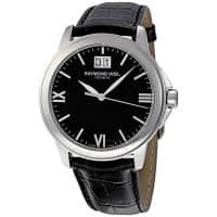 raymond-weil-tradition-black-dial-black-leather-strap-mens-watch-5476st00207