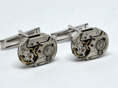 IWC Movement Silver Cufflinks